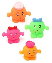 Babyhug Splash Buddies Bath Toys Set Of 4 - Multicolor