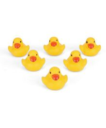 Babyhug Duckling Bath Toys Set Of 6 - Yellow