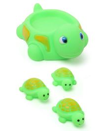 Babyhug Tortoise Bath Toys Set of 4 - Green