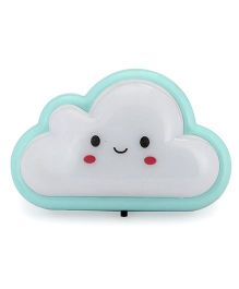 Smiling Cloud Shaped Night Lamp - Aqua White