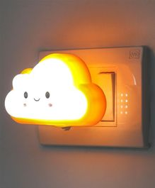 Smiling Cloud Shaped Night Lamp - Yellow White