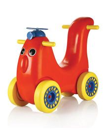 OK Play Scoot Hoot Manual Push Ride On - Red