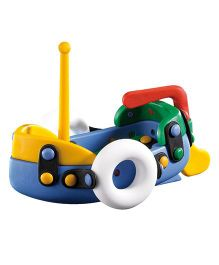 Mic O Mic Small Boat Construction Set - Multicolor