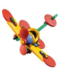 Mic O Mic Small Plane Dragonfly Construction Set - Multicolor