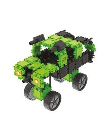 Clics Dino Squad Bucket Construction Set - Green And Black