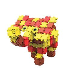 Clics Zoo Drum Construction Set - Red And Yellow