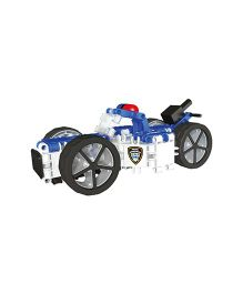 Clics Hero Squad Police Drum Construction Set - White And Blue