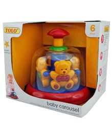 Tolo Teddy Bear Carousel Press And Spin Toy - Multicolor