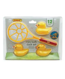 Tolo Mini Bath Duck Set - Yellow