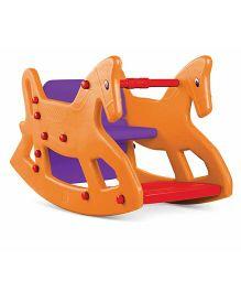 OK Play ROXY 2-IN-1 Rocking Horse Cum Chair - Yellow