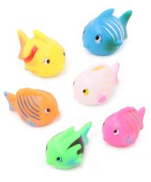 Babyhug Fish Bath Toy Set of 6 - Multicolor