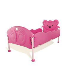 OK Play Teddy Dreams Single Bed - Pink
