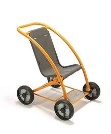Winther Circleline Stroller - Black Orange