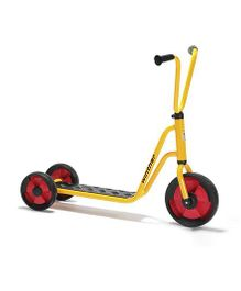 Winther Duo Scooter With 2 Rear Wheels - Yellow Black Red