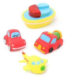 Babyhug Vehicle Bath Toys Set of 4 - Multicolor