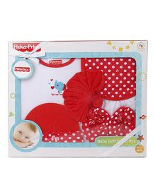 Fisher Price Apparel Clothing Gift Set Pack of 6 - Red White