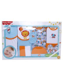 Fisher Price Apparel Clothing Gift Set Orange & Blue - 12 Pieces