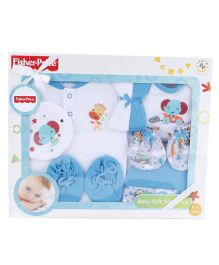 Fisher Price Apparel Clothing Gift Set Blue - 8 Pieces