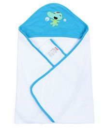 Fisher Price Apparel Hooded Baby Blanket - Blue
