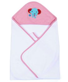 Fisher Price Apparel Hooded Baby Blanket - Pink