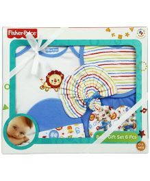Fisher Price Apparel Infant Gift Set Blue - Pack Of 6