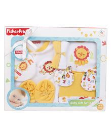 Fisher Price Infant Gift Set 8 Pieces - Yellow & Multi