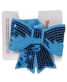 NeedyBee Sequin Headband With Bow - Blue