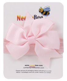 NeedyBee Headband With Bow - Light Pink
