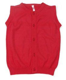 Oye Sleeveless Cardigan Sweater - Red