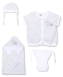 M&M 4 Piece Organic Cotton Clothing Gift Set - White