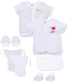 M&M 7 Piece Organic Cotton Clothing Gift Set - White