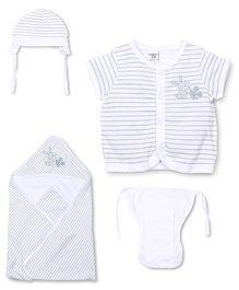 M&M 4 Piece Organic Cotton Clothing Gift Set - White