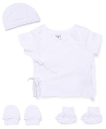 M&M 5 Piece Organic Cotton Clothing Gift Set - White