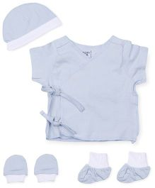 M&M 5 Piece Organic Cotton Clothing Gift Set - Blue