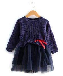 Pre Order - Lil Mantra Elegant Dress - Blue