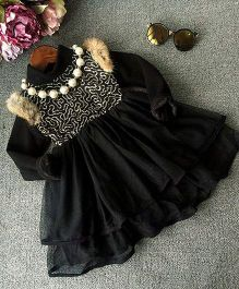 Pre Order - Lil Mantra Stylish Dress - Black