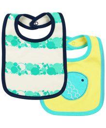 Babyoye Infant Baby Bibs Pack Of 2 - Yellow White