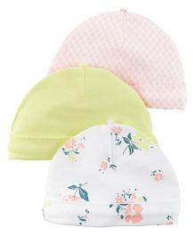 Carters Multi Print Caps Pack Of 3 - Multicolor