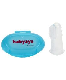 Babyoye Finger Toothbrush In A Box - Blue