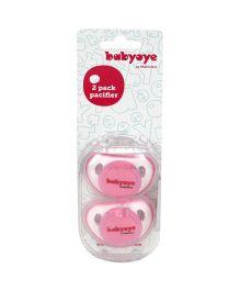Babyoye Twin Pack Soothers - Pink