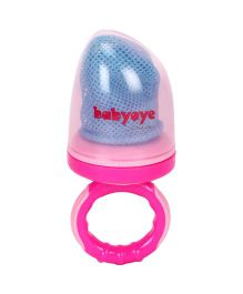 Babyoye Fruit Feeder With Net - Pink