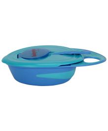 Babyoye Oval Feeding Bowl With Spoon - Blue