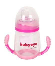 Babyoye Sipper Bottom Handle Pink - 210 ml