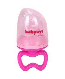 Babyoye Silicone Fruit Feeder - Pink