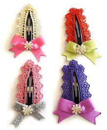 Soulfulsaai Set Of 4 Large Lacy Tic Tacs - Multicolour