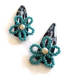 Soulfulsaai Bead Wire Flowers - Light Blue