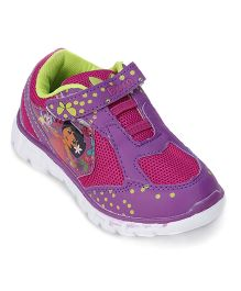 Dora Sneakers With Velcro Closure - Magenta