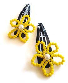 Soulfulsaai Bead Wire Flowers - Yellow