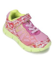 Barbie Sneakers With Velcro Closure - Pink And Green