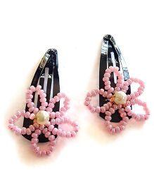 Soulfulsaai Bead Wire Flowers - Pink